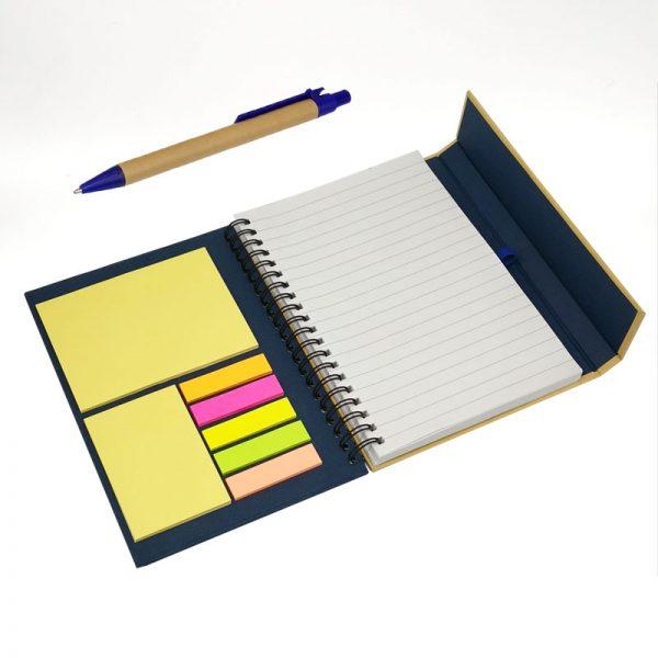 cuaderno ecológico bicolor azul