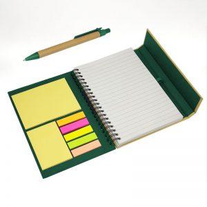 cuaderno ecológico bicolor verde