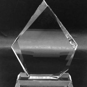galvano cristal diamante invertido