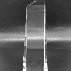 galvano de cristal obelisco