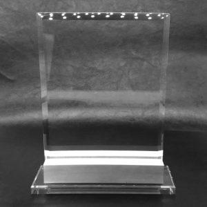 galvano de cristal con base metálica