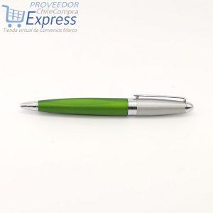 Bolígrafo LZ222 Verde Plata