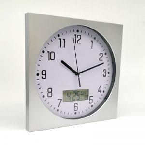 reloj mural con visor digital
